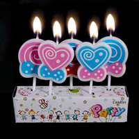 Wholesale Sale Cake Birthday - 20 packs approved 10 cm creative non-smoking cartoon candle baby birthday party cake decorating the love lollipop candles on sale