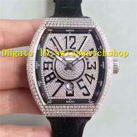 Wholesale Eta Men Watch - Top Quality Luxury Brand Big Arabic numerals Diamond Dial ETA 2824 Automatic Men's Watch Black Leather Strap Man Wristwatches