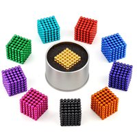 Wholesale Wholesale Magnetic Balls 5mm - Magnetic ball 216pcs 5mm Magic ball buckyballs Neocube neodymium Toy Neo Cubes Puzzle ball Toy Sphere Magnet Magnetic Bucky Balls OTH494