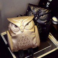 Atacado- Mais recentes X Feeling Fashion Gothic Design Mulheres Mochilas Owl Stylish Cool Black Pu Leather Women Bags