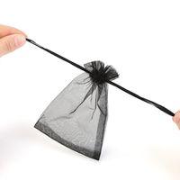 kleine nylon-tunnelzugtaschen großhandel-100pcs Netto Garn Reisetasche Lagerung Kordelzug kleine Tasche Kosmetiktasche Schmuckbeutel