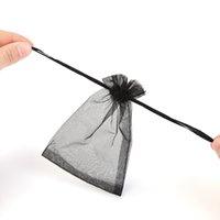 ingrosso borse a tracolla in nylon-Sacchetto di monili del sacchetto del sacchetto cosmetico del sacchetto di drawstring della piccola tasca di filato di viaggio del filato di 100pcs