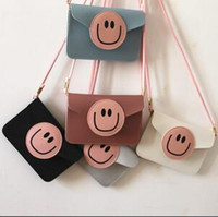 smiley coins Canada - New Cartoon Coin Purse Hit Color Smiley Face Mini Bag Messenger Cute Shoulder Phone Bag D0199