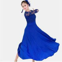 Wholesale wings for dancing for sale - Group buy 7 colors big wing blue ballroom dance dress for ballroom dancing waltz tango Spanish flamenco dress standard ballroom dress