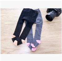 Wholesale Korean Children Tights - Baby Girls Tights 2017 New Spring Dots Cotton Toddler PP Pants Korean Fashion Cute Children Leggings Boutique Kids Long Socks 7660
