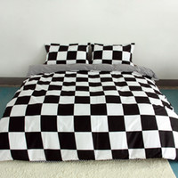 Wholesale white full bedroom set - Wholesale- Black And White Printing Activity Bedding sets Super King Queen,Duvet Quilt cover set,Bedroom Bedding,Home Textiles#ZY15