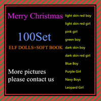 Wholesale Collectible Dolls Wholesale - Free DHL Shipping 10 Style Christmas Elf Doll Plush toys Elves Xmas dolls and Soft Back Books on the shelf For Kids Holiday Christmas Gift