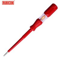 Wholesale precision voltage - Japan RUBICON Brand Electrical Tools RVT-212 Test Pencil 220~250V LED Voltage Tester Pen Diameter 3.5mm Slotted VDE Approved