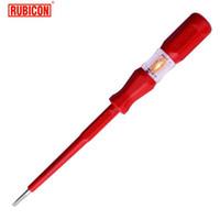 Wholesale Screwdriver Tester - Japan RUBICON Brand Electrical Tools RVT-212 Test Pencil 220~250V LED Voltage Tester Pen Diameter 3.5mm Slotted VDE Approved