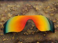 Wholesale Sunglasses Fire - BOTT Polarized Replacement Lenses for RadarLock Path Sunglasses Fire Red 100% UVA UVB