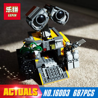 Wholesale New Wall E - 687Pcs 16003 New Lepin Idea Robot WALL E Building Set Kits Toys Educational Bricks Blocks Bringuedos 21303 for Children DIY Gift
