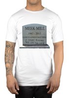 Men black tombstone - RIP Meek Mill Tombstone T Shirt Dreamchasers DC MMG Maybach Music Clothing Vs Short Sleeve T Shirt