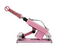 Wholesale sex machine cannon - Hot Sale Automatic Sex Climax Machine Gun Cannon with Big Dildo Pink Color Sex Furniture Masturbation Sex Machine For Female