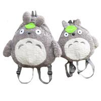 Wholesale Stuffed Animal Backpacks Children - My Neighbor Totoro Backpack Plush Bag Shoulder School Cartoon Stuffed Animal Backpack Totoro Children Mochila Escolar Infantil