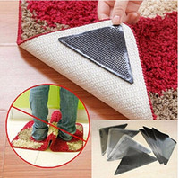 Wholesale Wholesale Washable Rugs - Wholesale-4pcs Ruggies Rug Carpet Mat Grippers Non Slip Corners Pad Anti Skid Reusable Washable Silicone Useful Tidy h151