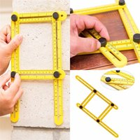 Wholesale Multi Angle Measuring Folding Ruler Angle Izer Tools Four Plastic Ruler Measuring Instrument Great Template for All Surfaces DHL Free JU053