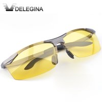 Wholesale Yellow Night Driving Glasses - Wholesale- 2017 Night Vision Polarized Glasses Yellow Lenses Night driving SunGlasses