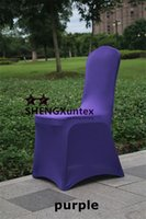 Wholesale Cheapest Chair Covers - Cheapest Price Purple Color For Wedding Lycra Spandex Chair Cover \ Hot Sale Universal Banquet Poly Chair Cover