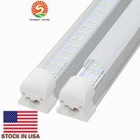 4ft 28w leuchtstoffröhre großhandel-8ft LED-Röhre Doppelte Linien LED 4ft 8ft integrierte Röhre Licht T8 LED-Röhren Leuchtstofflampen 28W 65W AC 110-240V UL DLC