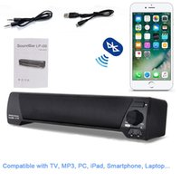 Wholesale small portable mp3 speakers resale online - LP Soundbar HIFI Box W USB Portable Audio Players Bluetooth Speaker with FM Column Sound Bar For Small TV Smart Phone Computer MIS152