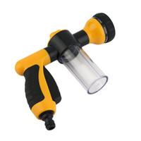 Wholesale Portable Water Sprayer - New Auto Car Foam Water Sprayer Car Portable High Pressure Car Wash Water Sprayer Home Foam Sprayer Black+Yellow Hot!