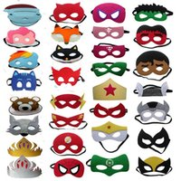 Wholesale child eye mask - High quality 108 styles Superhero Kids Cartoon Eye Masks Halloween Christmas Captain America Wolverine Party Costumes mask for Children