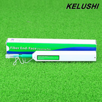 Wholesale Fiber Connector Cleaner - Wholesale- KELUSHI 2016 New Fiber Optic Cleaner for SC ST and FC Optical Fiber Connector Cleaning Tools One-Click Cleaner Cleaning Pen