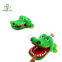 Wholesale Funny Dentist Gifts - Wholesale-Large Funny Crocodile Dentist Toys Plastic Bite Finger Game Novelty Gags Jokes Crocodile Gift For Children Adult