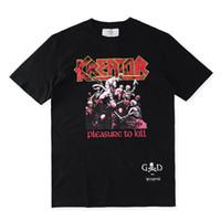 Wholesale Metal Rock T Shirt - Fear Of God208 T shirt Heavy Metal Black FOG T-shirts Rock Music Metallica Print Fashion Unisex Tees For Man S-XL