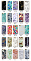 Wholesale fashion iphone 5c cases - Fashion Granite Scrub Marble Stone Printed Creative Case Soft TPU Relief Back Cover Skin for iPhone X 5 5S SE 5C 6 6S 7 8 Plus iPhone7