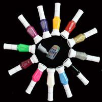Wholesale Ongles 3d - Wholesale-Nail Polish Art Pen 3D Vernis A Ongles Pens Set Glitter Esmalte Para Unha 12 colors Nagellak For Paint Varnish Lacquer Lot 023