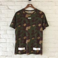 Wholesale Military Style Shorts - OFFWHITE The latest style arrows are of high Military camouflage Religion Arrow Short Sleeve Summer Hot Sale Striped Abloh Virgil Off White
