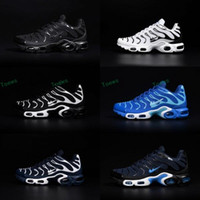 Wholesale Boots Material - 2017 Classical Maxs TN Mens Running Shoes Nanotechnology KPU Durable Material Blue Red Sports Men Maxes TN Sneakers Trainers Shoe Eur 40-47