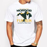 Wholesale Fun Camping - Camping & Hiking T-Shirts Hot New Men Summer Casual Clothes Mordor Fun Printed Tees Short Sleeve Shirt Cotton T Shirt Plus Size Clothing