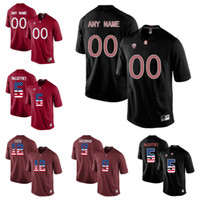Wholesale Andrew Christian L - Custom USA Flag Fashion Men's Stanford Cardinal Andrew Luck 12 Christian McCaffrey 5 Richard Sherman 9 College Jerseys Any Name Number