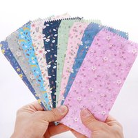 Wholesale Colored Paper Envelopes - Wholesale-10   Lot Of Lovely Flowers And Colored Paper Envelopes Baby Gift Korean Stationery Wholesale Free Shipping