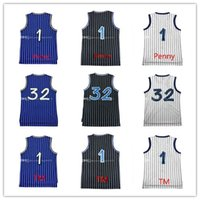 Wholesale Mcgrady S - Brand new 1 Penny Hardaway Jersey 100% Stitched 32 Shaquille O'neal Jersey 1 Tracy McGrady Jersey Embroidery free shipping