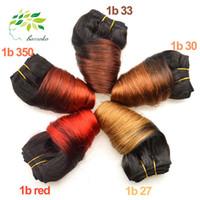 color de cabello 33 27 al por mayor-6 piezas de la onda suelta del pelo de la Virgen ofertas del paquete brasileño del pelo que teje 350/33/30/27 del pelo humano Crochet Ombre onda suelta brasileña