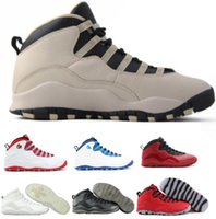 Wholesale China Sport Women Brand - 2017 Retro 10 Basketball Shoes Men Women Blue Air Retros 10s X Men's Women's Sport Femme Homme China Brand Athletic Training Sneakers Shoes