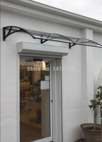 Wholesale DS100200 A x200CM aluminum bracket and PC sheet polycarbonate awning home use entrance door canopy door canopy awning diy awning