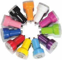 Wholesale colorful car dual charger for sale - 500pcs Colorful No Gap Solid Body Dual usb Ports A A Car Charger Adapter For iPhone s Samsung Mp3 Gps Speaker headphone