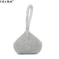 Wholesale Popular Designer Handbags - Wholesale- LALA IKAI Designer Luxury Evening Clutch Bags Ladies Popular Party Handbags with Diamonds Fashion Wallet Purse Bag BWF0098-5