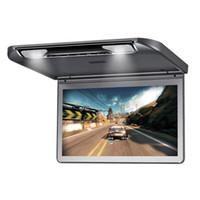cabeça de telhado venda por atacado-13.3 '' 1920x1080 Resolução Telhado Do Carro Montar Monitor Flip para baixo sobre a Cabeça Do Carro Teto LCD Monitor de Exibição de TV Monitor de TV