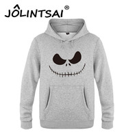 Wholesale Mens Christmas Hoodie - Wholesale- Nightmare Before Christmas Grimace Pullovers Hip Hop Men Hoodies and Sweatshirts Mens Pullover Harajuku Funny Brand Tracksuits
