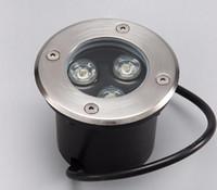 ingrosso luci di zoccoli-Vendita calda LED luce sotterranea 3 * 3W IP68 Sepolto da incasso a pavimento percorso paesaggio lampada DC12V 85-265VAC