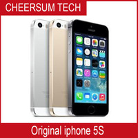 Wholesale Low Price Mobile Wholesale - Free DHL Apple iphone 5S Mobile phone LTE Dual core 4.0 inches 1G RAM 16GB 32GB 64GB ROM 8MP IOS low price phone