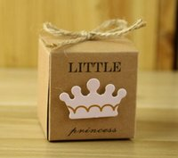 Wholesale guest gift for baby shower for sale - Group buy Hot Event Kraft Paper Gift Box Candy Boxes Baby Shower Decorations Wedding Favors and Gifts Box for Guests inch Party Supplies