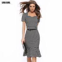 Wholesale Knee Length Mermaid Skirt - Free Shipping 2016 Squirrel-Box Slim Hip-Tail Dress Dress Pencil Skirt Sling Belts