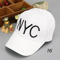 Wholesale Snapback Embroidery Nyc - Wholesale 10 pcs Unisex Solid Color Big Brim Baseball Hat Letter NYC Embroidery Child Kid Adjustable Snapback Baseball Cap 2017 MZ4607