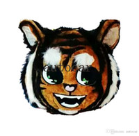 Wholesale Tiger Mascot Heads - tiger head (only head) mascot costumes for adults circus christmas Halloween Outfit Fancy Dress Suit Free Shipping real picture